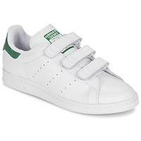 Schoenen Lage sneakers adidas Originals STAN SMITH CF Wit / Groen