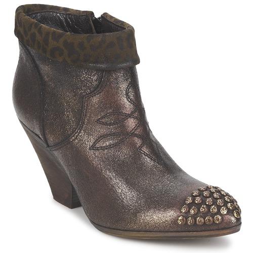 Schoenen Dames Low boots Strategia AILLA Kaki / Aluminium