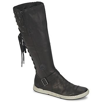Schoenen Dames Hoge laarzen Pataugas JOSS Zwart