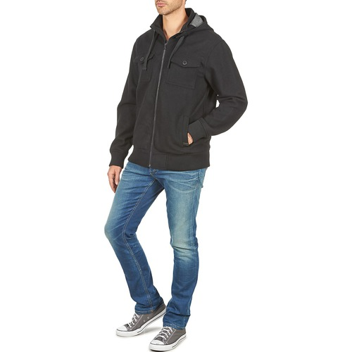 Nixon Captain Jacket Iii Zwart - Gratis Levering Textiel Wind Jackets Heren 13520