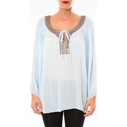 Textiel Dames Tunieken Tcqb Tunique TDI paillettes bleu ciel Blauw