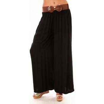 Textiel Dames Losse broeken / Harembroeken De Fil En Aiguille Pantalon Trionfo noir Zwart