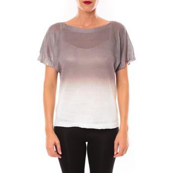 Textiel Dames T-shirts korte mouwen De Fil En Aiguille Top Carla marron Bruin