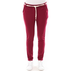 Textiel Dames 5 zakken broeken De Fil En Aiguille Pantalon Sandra bordeaux Rood