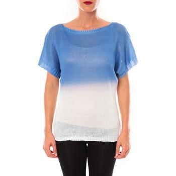 Textiel Dames T-shirts korte mouwen De Fil En Aiguille Top Carla bleu Blauw