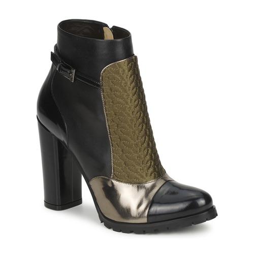 Schoenen Dames Enkellaarzen Etro FEDRA Zwart / Kaki / Zilver