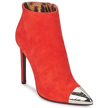 Schoenen Dames Enkellaarzen Roberto Cavalli WDS213 Rood