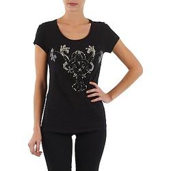 Textiel Dames T-shirts korte mouwen S.Oliver T-SHIRT MANCHES COUR Zwart