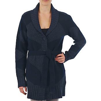 Textiel Dames Vesten / Cardigans Gant N.Y. DIAMOND SHAWL COLLAR CARDIGAN Marine