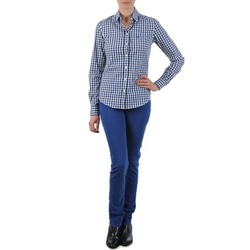 Textiel Dames Straight jeans Gant N.Y. KATE COLORFUL TWILL PANT Blauw