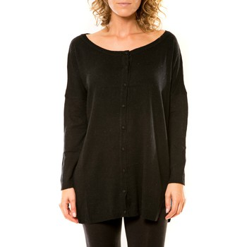 Textiel Dames Vesten / Cardigans Vision De Reve Vision de Rêve Gilet 12026 Noir Zwart