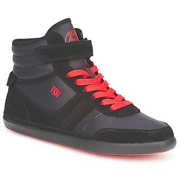 Schoenen Dames Hoge sneakers Dorotennis MONTANTE STREET LACETS + VELCRO Zwart