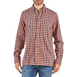 Textiel Heren Overhemden lange mouwen Hackett SOFT BRIGHT CHECK OranJe / Blauw