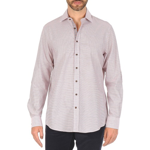 Textiel Heren Overhemden lange mouwen Hackett MULTI MINI GRID CHECK Multicolour