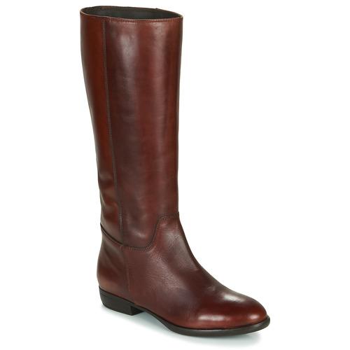 Schoenen Dames Hoge laarzen Jonak CAVILA Bruin