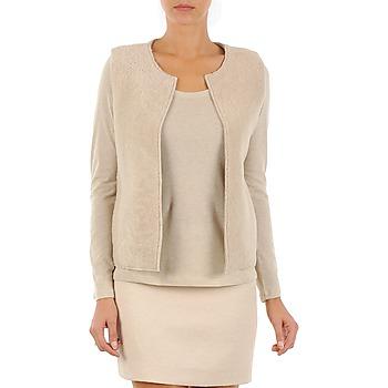 Textiel Dames Vesten / Cardigans Majestic 241 Beige