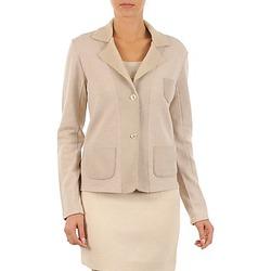 Textiel Dames Jasjes / Blazers Majestic 244 Beige