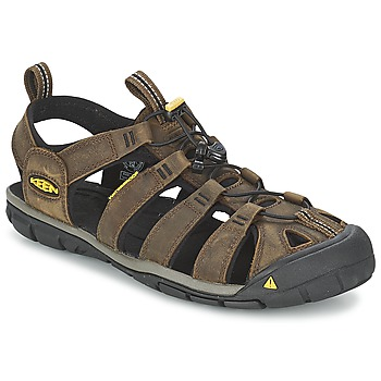 Schoenen Heren Outdoorsandalen Keen CLEARWATER CNX LEATHER Bruin / Zwart