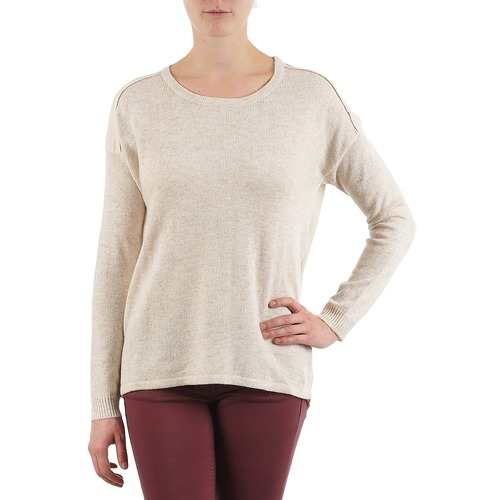 Textiel Dames Truien Color Block 3265194 Beige
