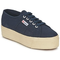 Schoenen Dames Lage sneakers Superga 2790 LINEA UP AND Marine