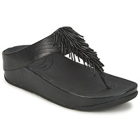 Schoenen Dames Teenslippers FitFlop CHACHA Zwart