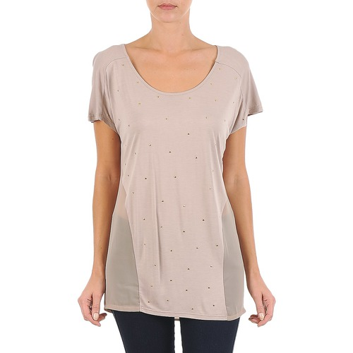 Textiel Dames T-shirts korte mouwen La City MC BEIGE Beige