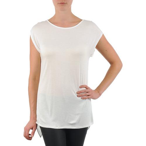 Textiel Dames T-shirts korte mouwen La City TS CROIS D6 Wit