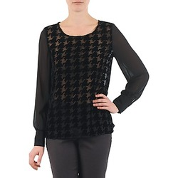 Textiel Dames Tops / Blousjes La City ML FLOCK P Zwart