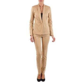 Textiel Dames 5 zakken broeken La City PBASIC Beige