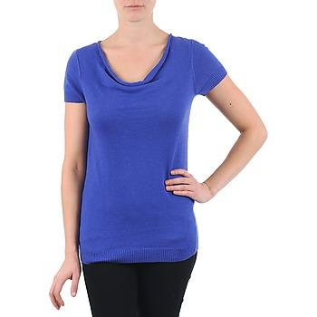 Textiel Dames T-shirts korte mouwen La City PULL COL BEB Blauw