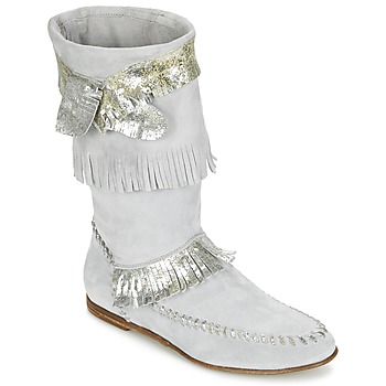 Schoenen Dames Hoge laarzen Now MATELI Grijs / Zilver