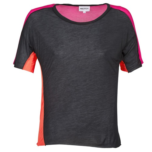 Textiel Dames T-shirts korte mouwen American Retro CAROLE Zwart / Roze