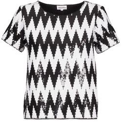 Textiel Dames T-shirts korte mouwen American Retro GEGE Zwart / Wit