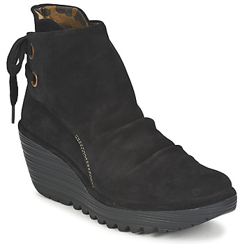 Schoenen Dames Enkellaarzen Fly London YAMA Zwart