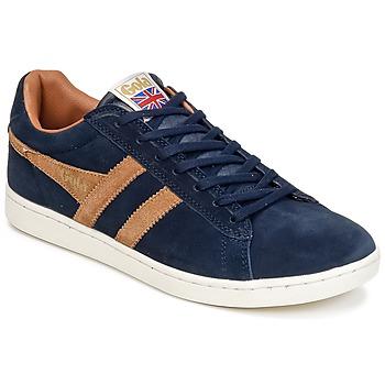 Schoenen Heren Lage sneakers Gola EQUIPE SUEDE Marine / Bruin