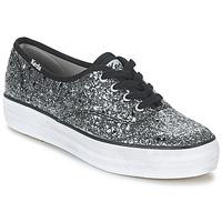 Schoenen Dames Lage sneakers Keds TRIPLE GLITTER Zilver