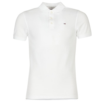 Textiel Heren Polo's korte mouwen Tommy Jeans ORIGINAL FLAG POLO Wit