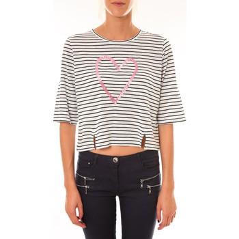 Textiel Dames T-shirts korte mouwen Coquelicot Top 15404/209 marin Blauw