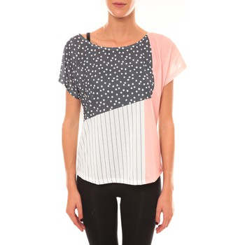 Textiel Dames T-shirts korte mouwen Coquelicot Top 15403/001 blanc Wit