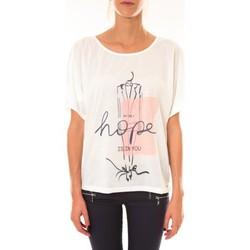 Textiel Dames T-shirts korte mouwen Coquelicot Top 15407/001 blanc Wit
