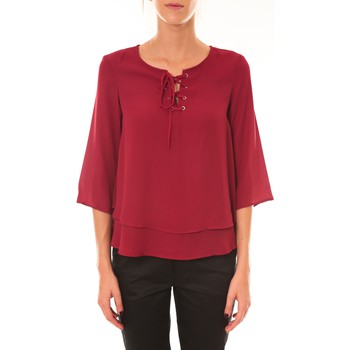 Textiel Dames Tops / Blousjes Dress Code Blouse 1652 bordeaux Rood