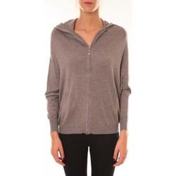 Textiel Dames Jacks / Blazers Sweet Company Sweat Company Sweat zippé L1039 marron Bruin