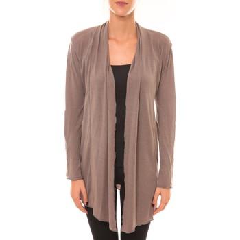 Textiel Dames Vesten / Cardigans Vision De Reve Vision de Rêve Cardigan 8677 taupe Bruin