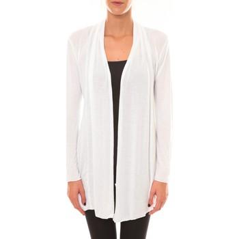 Textiel Dames Vesten / Cardigans Vision De Reve Vision de Rêve Cardigan 8677 blanc Wit