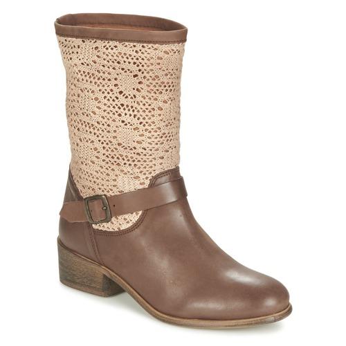 Schoenen Dames Laarzen Betty London CASTAGNO Bruin