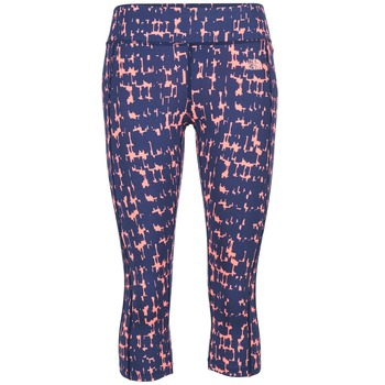 Textiel Dames Leggings The North Face PULSE CAPRI TIGHT Marine / Roze