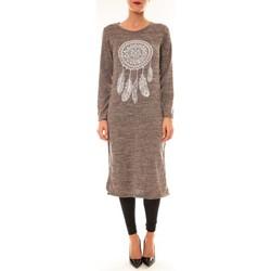 Textiel Dames Korte jurken By La Vitrine Robe Plume prune Violet