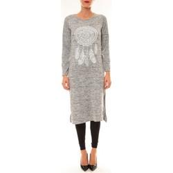 Textiel Dames Lange jurken By La Vitrine Robe Plume gris clair Grijs