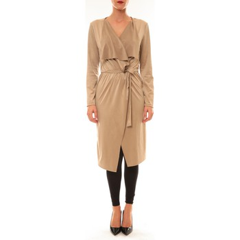 Textiel Dames Vesten / Cardigans La Vitrine De La Mode By La Vitrine Cardigan asymétrique Nina beige Beige