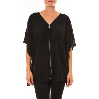 Textiel Dames T-shirts korte mouwen De Fil En Aiguille Cardigan MC1209 noir Zwart
